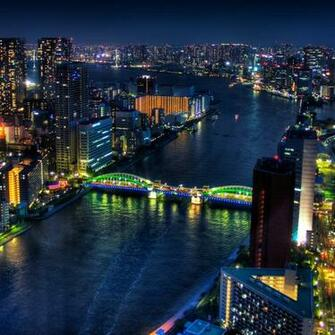 Tokyo Japan at night download wallpapers iPad