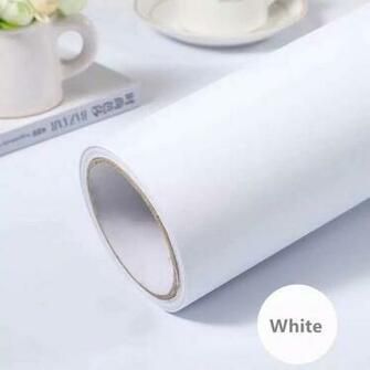 Amazoncom practicalWs White Self Adhesive Wallpaper Film Stick