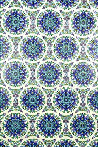 Blue Geometric Vintage Wallpaper