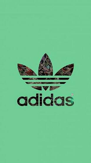 Wallpaper HD iPhone X 8 7 6   Adidas logo green