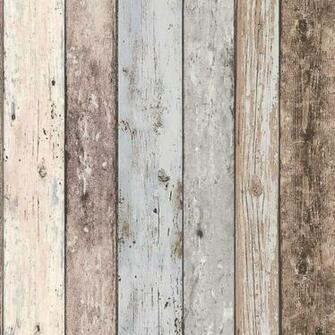 Distressed Wood Panel   New England   AS Creation Wallpaper