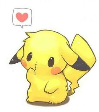 Cute pikachu hearts anime wallpaper chibi   on anime kida   http