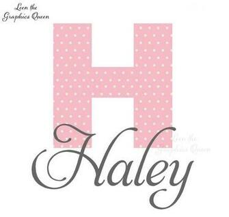 Haley Polka Dot Monogram Wall Decal