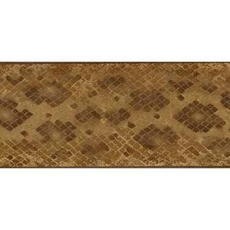 Light Brown Diamond Wallpaper Border