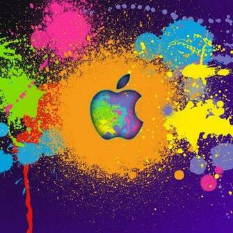 Crazy apple colors ipad wallpaper to download