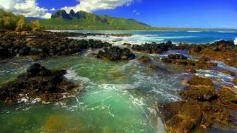 Kong Mountain Seascape Kauai   Cool Backgrounds and Wallpapers