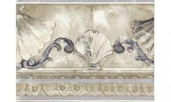 Home Silver Gold Stone Sea Shell Molding Wallpaper Border