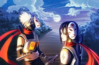 Anbu Hatake Kakashi Uchiha Itachi Mask Sword Anime HD Wallpaper