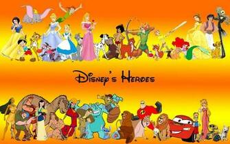 Walt Disney Heroes Characters HD Wallpaper of Cartoon