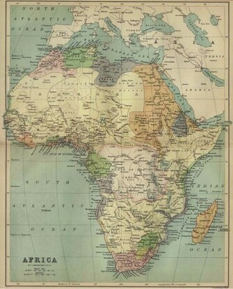 Africa Map Wallpapers