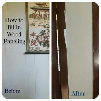 Confessions of an ADD Housewife How to fill in Wood Paneling