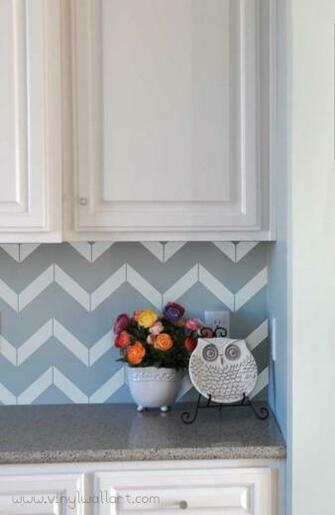 Cute Chevron backsplash Kitchen Pinterest