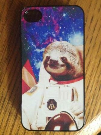 sloth astronaut phone case - 359×480