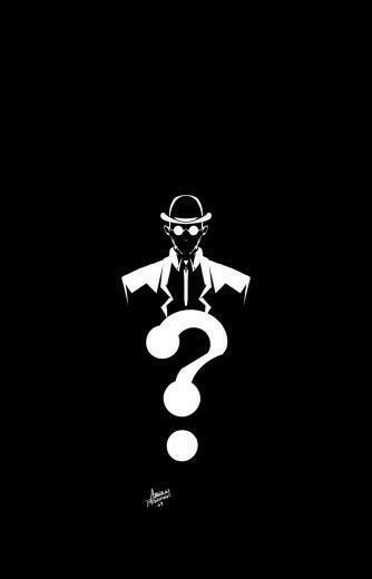 The Riddler Question Mark Wallpaper Riddler by andrewfroedge