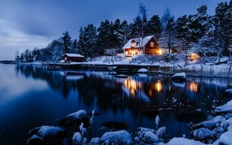 Beautiful Winter Night Wallpaper Freetopwallpapercom