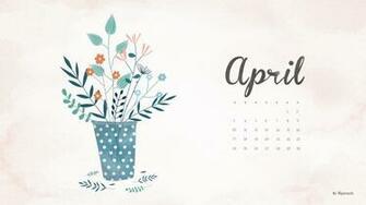 April 2016 calendar wallpaper desktop background