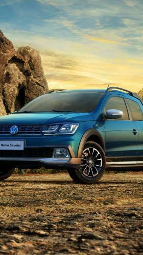 Wallpaper Volkswagen Saveiro Cross CD pickup blue Cars Bikes