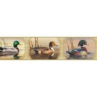 Chesapeake Winning Waterfowl Portrait Blocks Wildlife Border Wallpaper