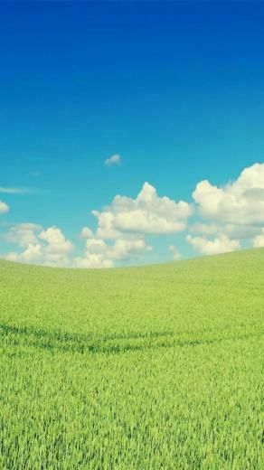 cloud sky green wallpapersc SmartPhone