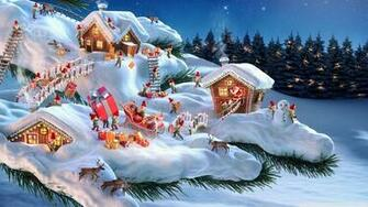 Santa and his Elves 4K HD Desktop Wallpaper for 4K Ultra HD TV