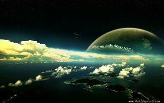Wallpaperspanoramic view space planets universe wallpapers