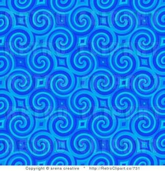 Royalty Retro Blue Spiral Background Pattern by Arena Creative