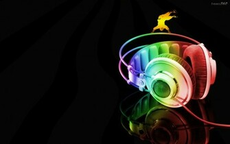 Neon Headphone Cool Music Wallpaper Wallpaper WallpaperLepi