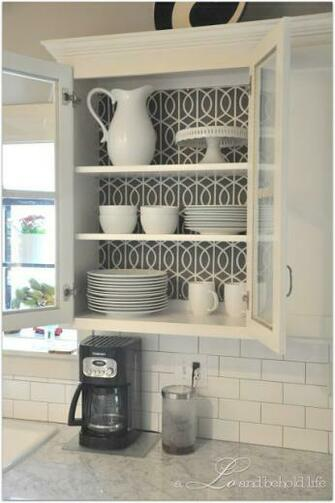 Kitchen Cabinet Wallpaper Cute for cabinets with glass doors Ikea