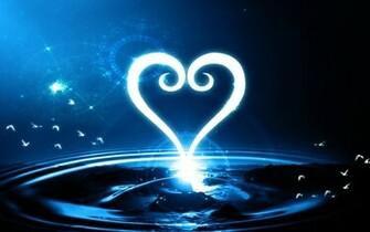 Kingdom Hearts Heart Logo Abstract Wallpaper by Zaxiade