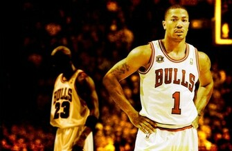 Derrick Rose And MJ Widescreen Wallpaper Basketball Wallpapers at