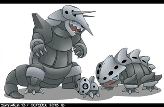 FanArt   Pokemon   AronLaironAggron by SkyWalk13 on