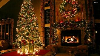 Christmas holiday decoration wallpaper 1366x768jpg