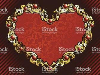 Elegant Valentine Background With Rubies Stock Illustration