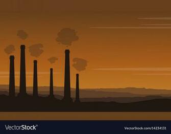 Bad environment pollution industry background Vector Image