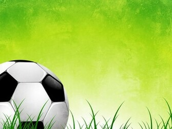 This is the Soccer Ball On Green Grass Abstract background image You