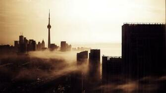 Toronto Evening Skyline Wallpaper WallpaperzCO