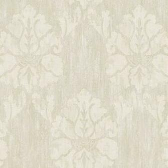 Grey Wood Damask Wallpaper   Wall Sticker Outlet