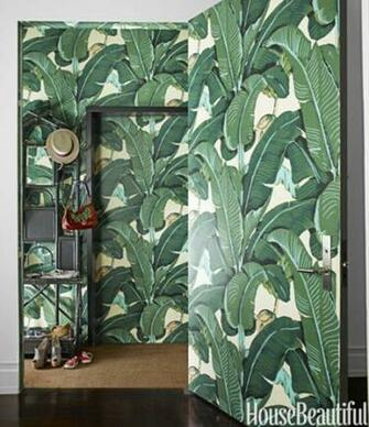 Rosa Beltran Design MARTINIQUE BANANA LEAF WALLPAPER