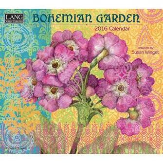 Susan Winget Bohemian Garden 2016 Wall Calendar