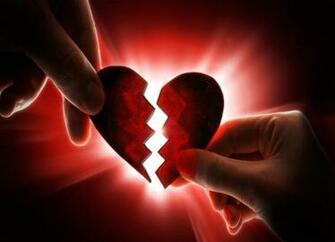 broken heart two part heart wallpaperjpg