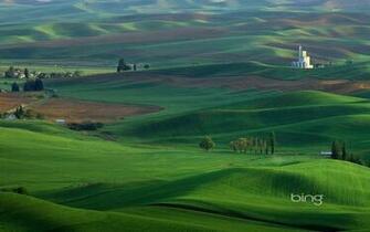 Windows 7 Bing Thmes les prairies maison papier peint panoramique