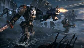 Warhammer 40k Space Marines sci fi warrior mech mecha weapon gun
