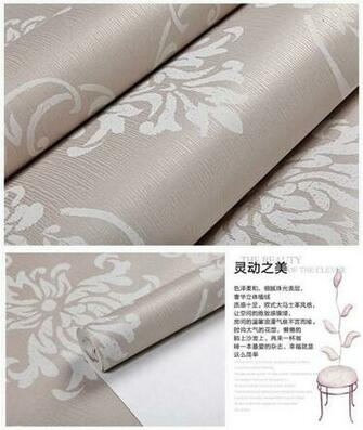 Color Luxury Gorgeous Gold Grey Beige Classic Damask Wallpaper eBay