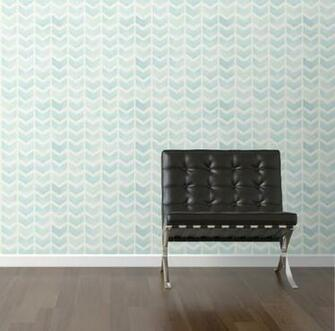 Faded blue chevron removable wallpaper from Walls Need Love