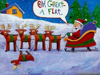 funny christmas wallpapers 2 1024x768   Plunged in Debt