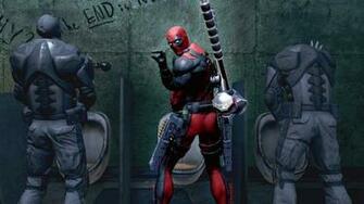 4K wallpaper   Deadpool The Game   marvel Weapons bathroom