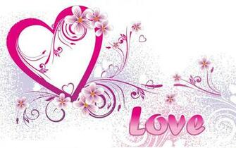 Cute Pink Colour Love Valentines Day Wallpapers
