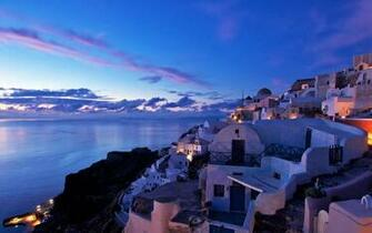 photo Sunset Santorini Greece   Sky Sunset View