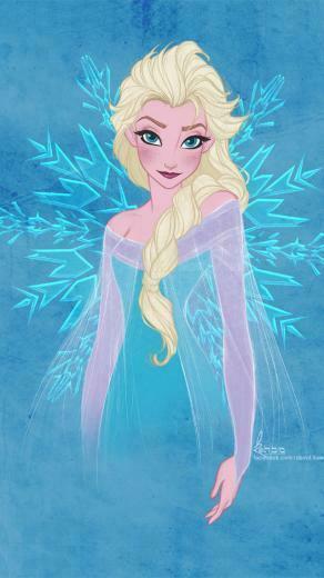 Frozen Elsa Frozen Heart iPhone wallpaper