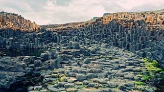 Giants Causeway in Northern Ireland HD wallpaper